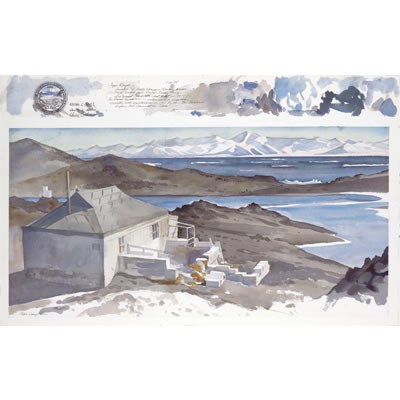 Shackleton�s Hut - The Nimrod Expedition, Watercolor (22