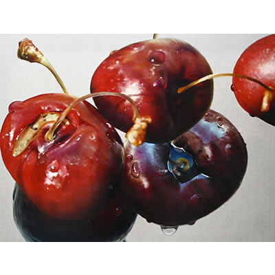 Prunis avis (Cherry Ripe I): 2009, Oil on Belgian Linen, 96 x 126cm