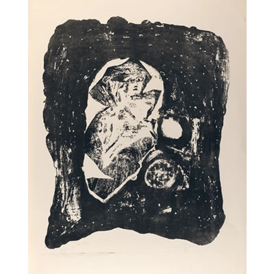 Angel of the Abyss 1961 - Lithograph