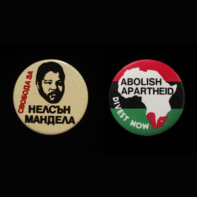 Badges of the struggle against apartheid - South Africa and other countries, about 1980�94