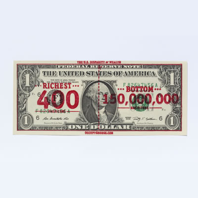 Stamped dollar bill - United States, 2011