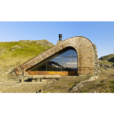 Bjellandsbu Hunting Lodge (2013), Norway by Snohetta. Photo C James Silverman