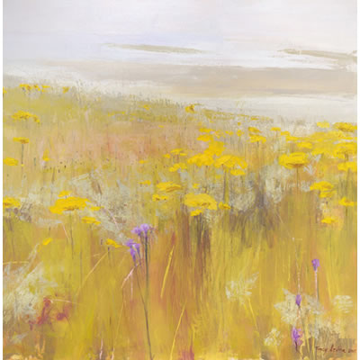 Fields of Gold - Acrylic and mixed media on linen, 90cm x 90cm