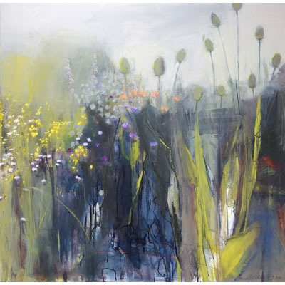 Midsummer 1 - Acrylic and mixed media on linen, 100cm x 100cm