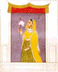Lady awaiting her lover - 17th Century, Varanasi, India