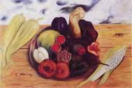 Fruits of the Earth, painting by Frida Kahlo. From Food in Painting, by Kenneth Bendiner, published