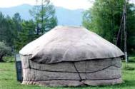 Felt yurt or ayil, in Siberia Photograph: Frances Howard Gordon