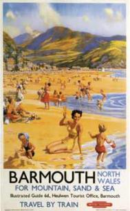 Barmouth holiday poster issued by British Rail in 1956, by Henry Riley Courtesy: The Culture Archive