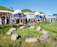 Houses featuring turf roofs and passive solar design Photograph: Martin Bond/Still Pictures