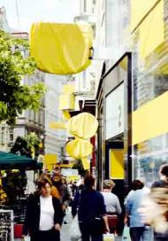 View into Vienna's popular shopping street Neubaugasse in June 2005 Photograph: Hans Punz/Empics