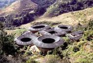 Earth buildings in China are located at Shangfan Village in east China's Fujian Province. There are