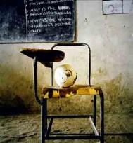 A classroom in Chimbiri school in the highlands of Ethiopia. Photograph: Chris De Bode/Panos