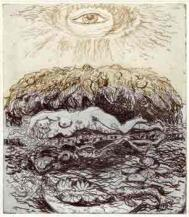 The Sun Thinks..., etching by John Moat