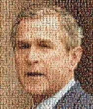 Photo montage of George Bush's face