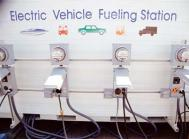 Electric vehicle fuelling station. Courtesy: Joe Sohm/Alamy