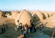 Baninajar Refugee Camp, Khuzestan, Iran. Shelters built with Super Adobe system created by Nader Kha
