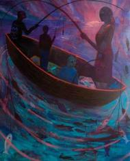 Night Fishing, painting by Paul Bloomer Courtesy: Paul Bloomer/Boundary Gallery