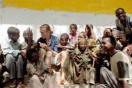 Jeremy Gilley talks to children in Southern Sudan. Photograph Courtesy: Jeremy Gilley