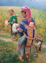 Hmong women and children, Vietnam, from The Big Earth Book by James Bruges published by Alastair Saw