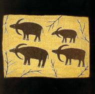 Four Buffalo, painting by Sambo Barra Barra. Courtesy: Rebecca Hossack Gallery