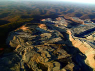 A mountaintop removal mine in Appalachia. Photograph: Vivian Stockman