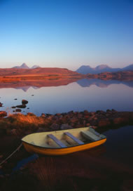 Boat near Achiltibuie, Scotland. Photograph: Paul Turner