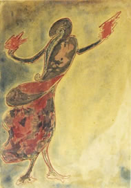 Dancing woman by Tagore. Courtesy: National Gallery of Modern Art, New Delhi