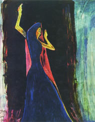 Dancing woman by Rabindranath Tagore. Image: courtesy Nirmalya Kumar