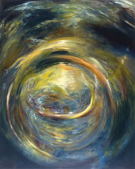 Painting: Premonition #1: Cradle of Light, by Adam Wolpert www.adamwolpert.com