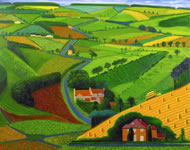 The Road to Wolds, 1997, by David Hockney Photo: Steve Oliver