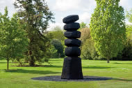 Cairn Column by David Nash, 2012, oak © RBC, Kew