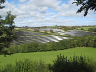 Effects of solar voltaic array installation, East Cornwall © Tim Unsworth