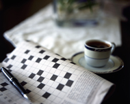 Crossword and coffee. ©anaimd/istockphoto.com