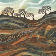 Waving in the Wind, monotype by Rebecca Vincent www.horsleyprintmakers.co.uk