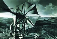 Rod James & George Collier with the Cretan windmill, 1974 © CAT