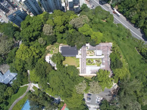 An aerial view of the Green Hub courtesy of Kadoorie Farm and Botanic Garden