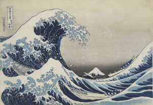 Under the Wave off Kanagawa (The Great Wave) from Thirty-six Views of Mount Fuji, colour woodblock, 1831. Acquisition supported by the Art Fund © The Trustees of the British Museum