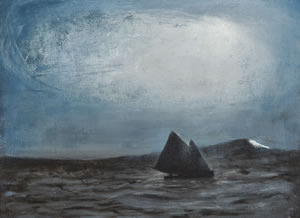 The Black Sailboat by Richard Cartwright courtesy of Richard Cartwright and John Martin Gallery www.jmlondon.com