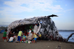 An art installation in Naic, Cavite by environmental group Greenpeace Philippines. Photograph © Greenpeace