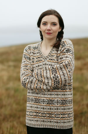 Recreation of the jumper knitted by Doris Hunter. Photograph © Susan Crawford