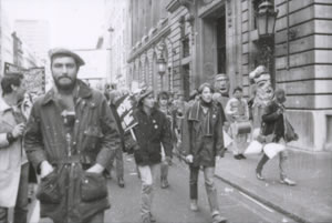 Mark Constantine on the CND march in London, October 1983