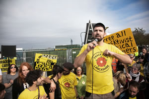 Richard Roberts, one of three anti-fracking protesters at Preston New Road, October 2018. Photographs © Kristian Buus www.kristianbuus.com