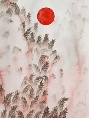 Trees with Sun (After Trees with Moon), 2019 by Erin Kendig