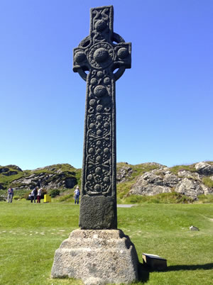 St Martins cross on Iona, Scotland. Photo by Nick Gibson