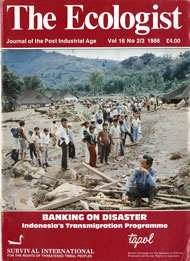 Cover of Ecologist issue 1986-02