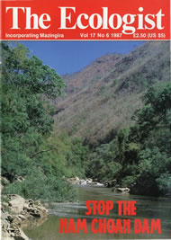 Cover of Ecologist issue 1987-11
