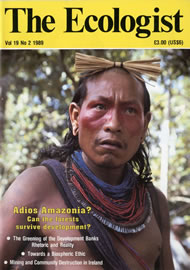 Cover of Ecologist issue 1989-03