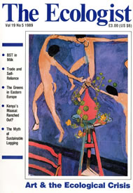 Cover of Ecologist issue 1989-09