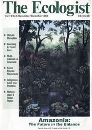 Cover of Ecologist issue 1989-11