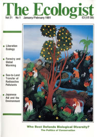 Cover of Ecologist issue 1991-01